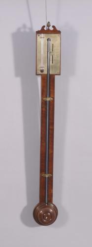 S/2105 Early Nineteenth Century Mahogany Stick Barometer by Lloyd of Bridgnorth