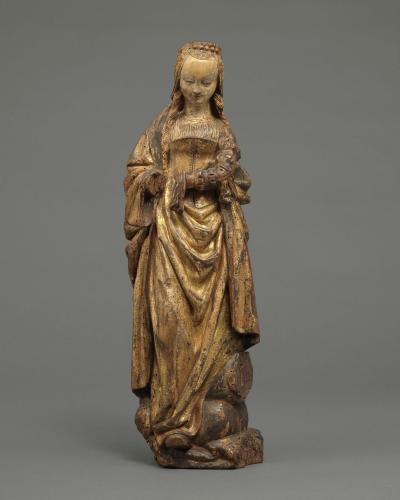 Saint Margaret  Walnut, with original polychrome and gilding  Flemish, Mechelen, c. 1510 – 1520