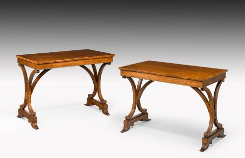 6522 Pair of Regency Rosewood Centre Tables