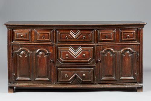 Charles II Oak Cupboard Dresser