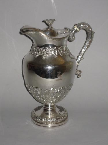 OLD SHEFFIELD PLATE SILVER WINE JUG. CIRCA 1825
