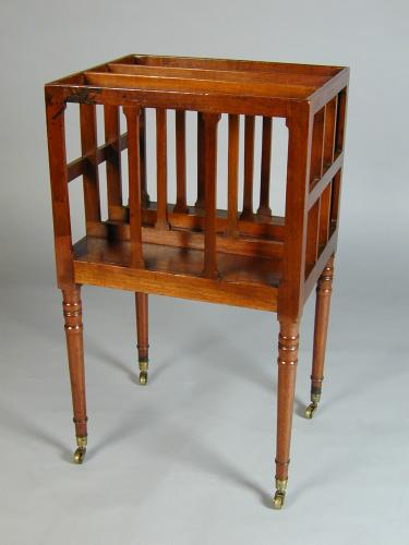 George III mahogany Canterbury bearing the trade label for James Mein of Kelso