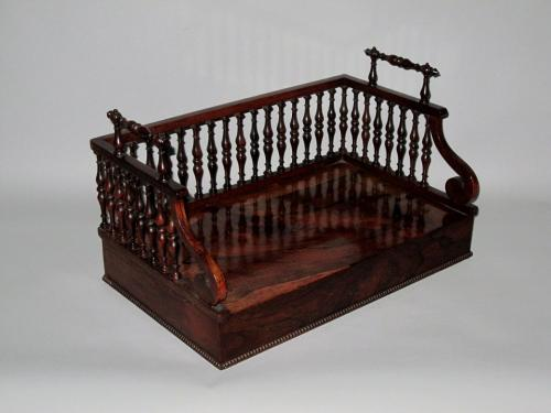 REGENCY PERIOD ROSEWOOD DESK BOOK CARRIER