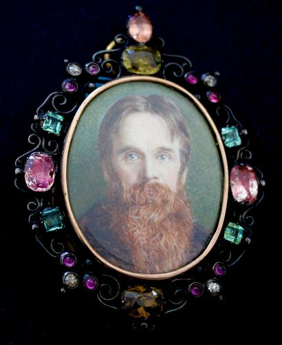 Obverse of Portrait miniature of Holman Hunt