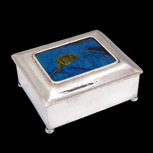 Guild Of Handicraft chameleon enamel box