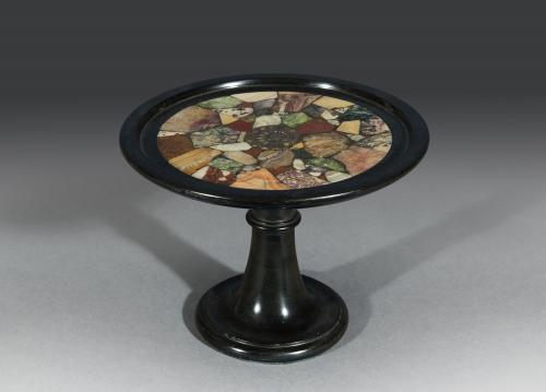 Early 19th Century Nero Belgio Marble 'Specimen' Tazza English Circa 1830