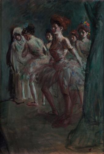 'Danseuses dans les coulisses', Jean Louis Forain (French, 1852 – 1931)