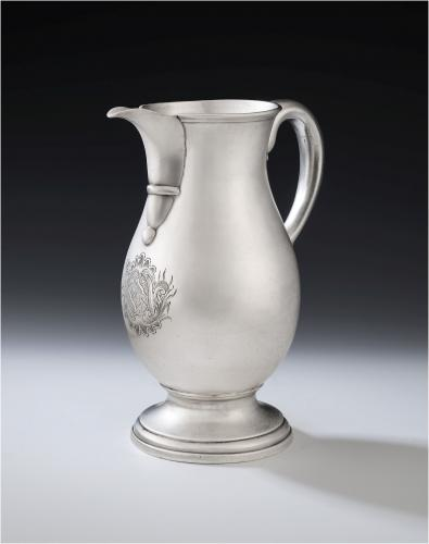An exceptionally rare George II beer or wine jug made in Newcastle in 1751 by James Kirkup