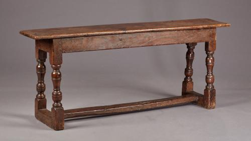 Charles I Oak 'H' Stretcher Bench Circa 1630