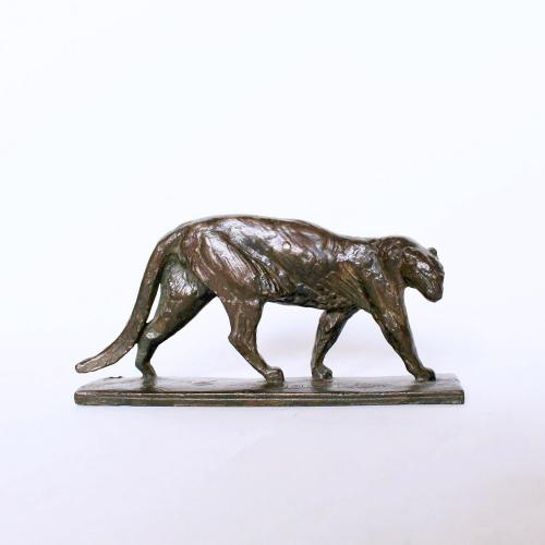 Alberic Collin bronze Art Deco panther circa 1925