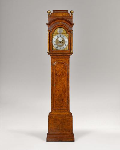 George II period walnut longcase - Ambrose Vowell