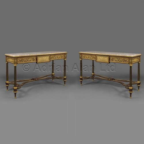 Pair of Console Tables ©AdrianAlanLtd