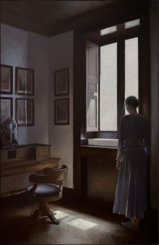 Geneviève Daël Nostalgie 2018 Oil on canvas 39.35 x 25.60ins (100 x 65cm)