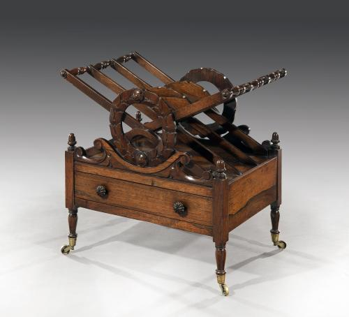 George IV Late Regency Rosewood Canterbury after the Design one John C. Loudon English Circa 1820