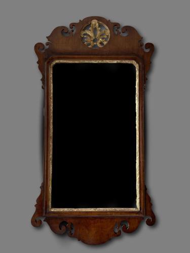 George III mahogany and gilt fret mirror circa 1775
