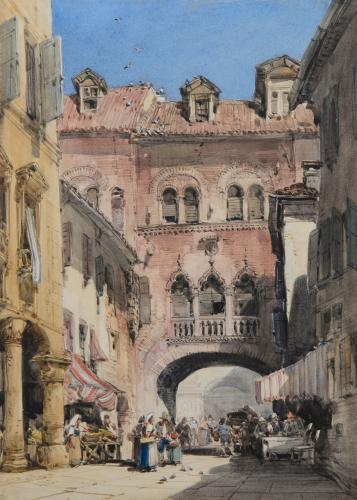 William Callow, R.W.S. (1812-1908) The Palazzo di Ezzolino, Padua