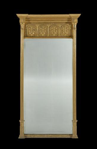 Large Early 19th Century Regency Period Giltwood Pier Mirror English Circa 1815