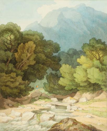 John White Abbott (1763-1851) Downstone Rock from Saugh Mill, Devon