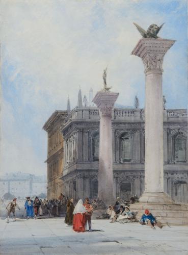 William Callow, R.W.S. (1812-1908) The Piazzetta, Venice