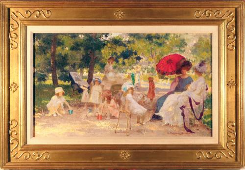 SUMMER IN THE PARK BY RENE ROUSSEAU-DECELLE