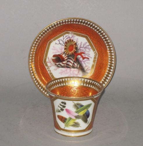 Chamberlains Worcester Cabinet Cup & Saucer. Circa 1810