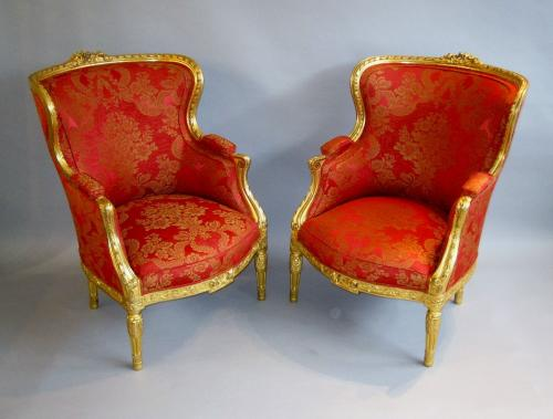 French gilt chairs