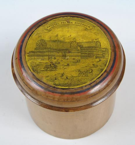 Tunbridge Ware Powder Pot