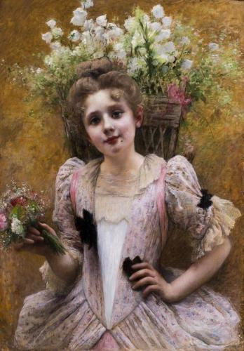 Valentine Cameron Prinsep RA (British, 1838 – 1904) The Flower Seller