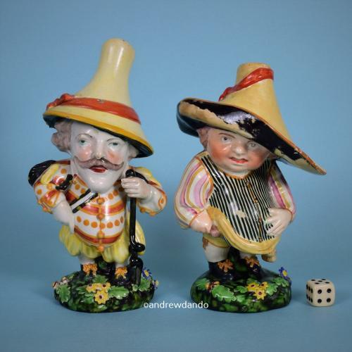 Pair of Staffordshire Figures – Mansion House Dwarfs.
