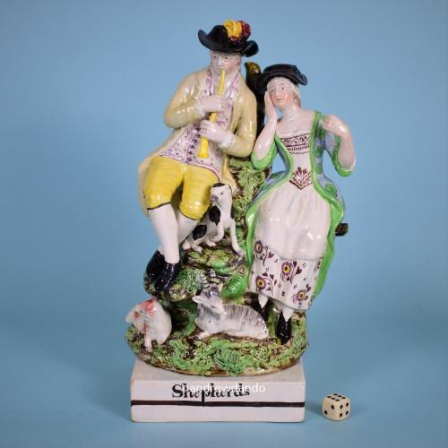 Staffordshire Figure Group 'Shepherds'
