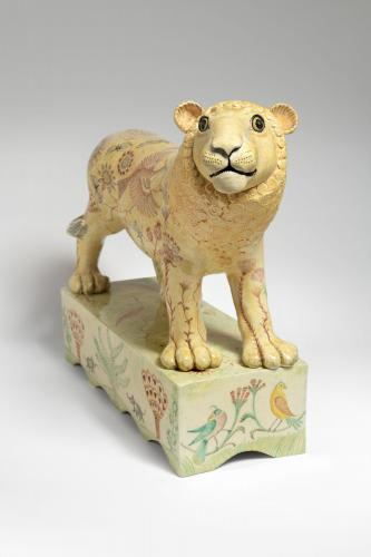 Georgina Warne Lion High fired earthenware