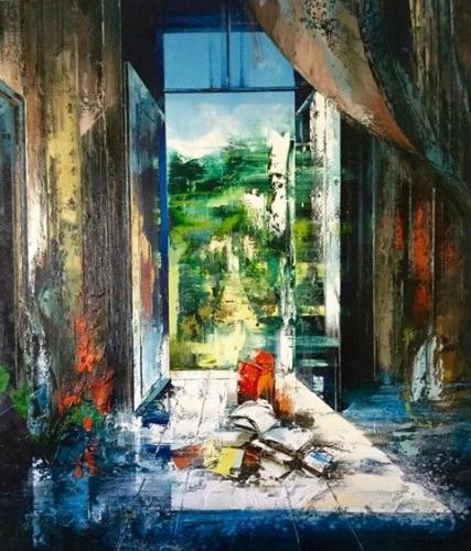 Heat 2018 Oil on canvas 186 x 160 cm John Monks