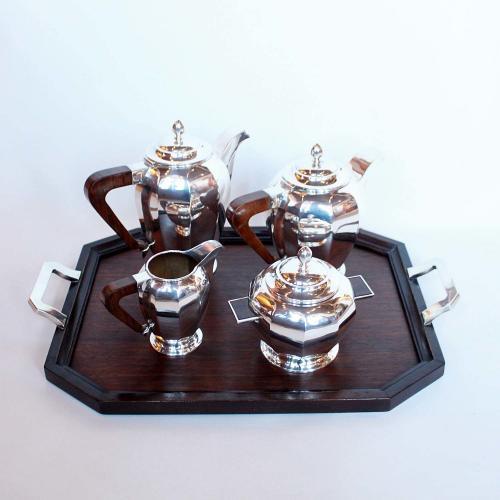 Silver Art Deco tea and coffee set