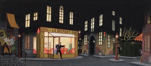 Le Bistrot by Erté (1892-1990)