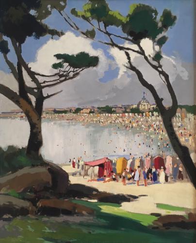 Bord de mer animée (Royan) by Lucien Peri (1880-1948)