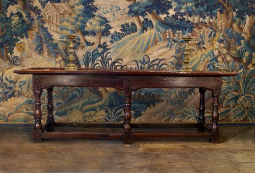 An Outstanding Late 17th Century Oak Refectory Table