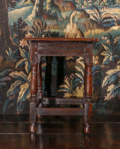A Fine Cromwellian Oak Joint Stool