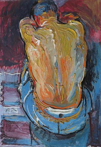 Fred Yates (British 1922 - 2008)  'Back View'  Oil on panel  Signed