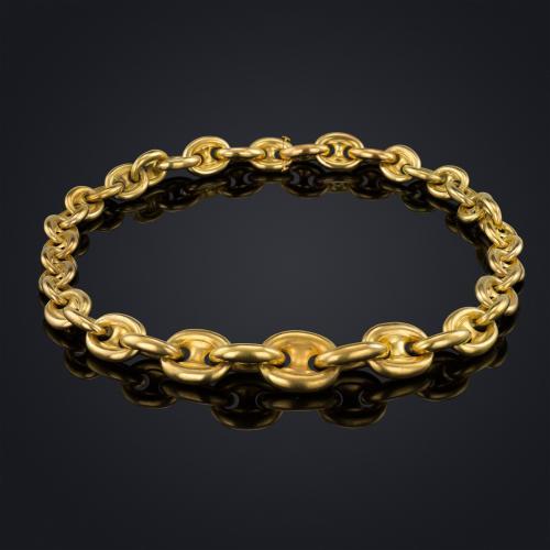 18ct gold Anchor link chain, circa 1880