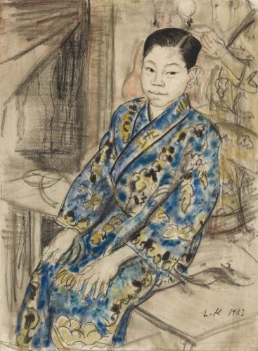 """Dame Laura Knight RA 1877-1970 The Chinese Juggler Watercolour and Chalk Initialled dated 1933 14"""" x 10"""""""