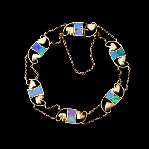 Liberty & Co gold and opal bracelet