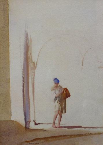 """Sir William Russell Flint RA 1880-1969 """"The Blue Turban"""" Signed Watercolour"""