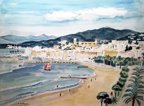 La Baie de Cannes by Yves Brayer (1907 – 1990)