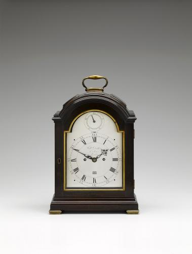 William Dutton & Sons, London No. 210 Fine George III ebonised table clock. Circa 1785
