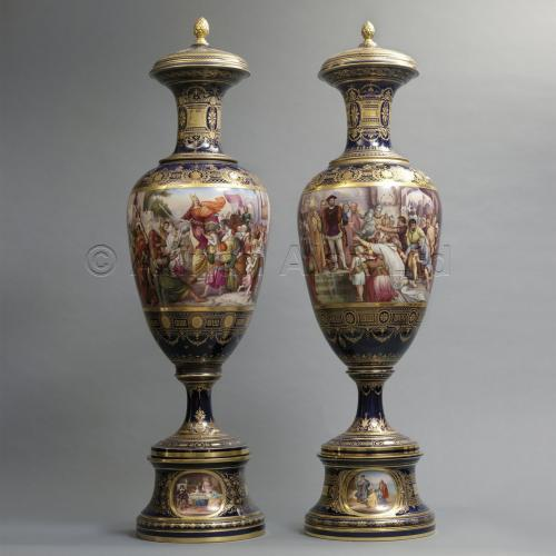 Pair of Vienna Vases ©AdrianAlanLtd
