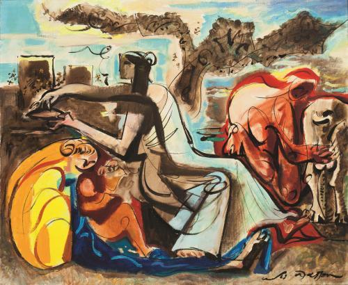Le Miel et Le Lait by André Masson (1896 – 1987)