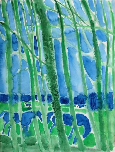 Chevaux dans les Arbres by André Brasilier (b.1929)