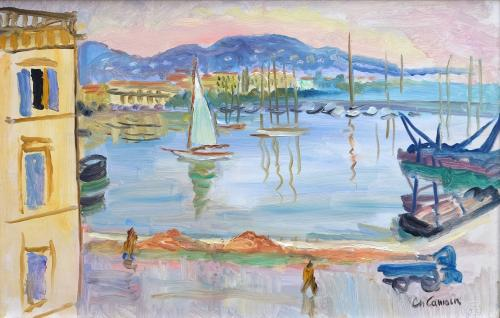 Cannes, Le Port by Charles Camoin (1879 – 1965)