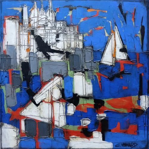 Le Port de Marseille by Claude Venard (1913 – 1999)