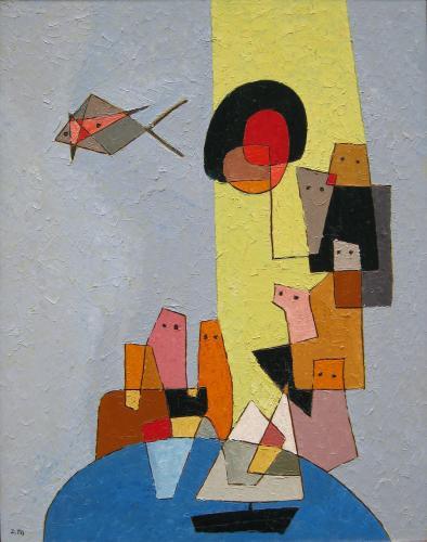 Le Bassin du Luxembourg by Denise Mannoni (1918 – 2003)